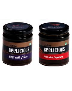 Beelicious Honey with Cinnamon - 250 gms & Honey with Clove - 250 gms