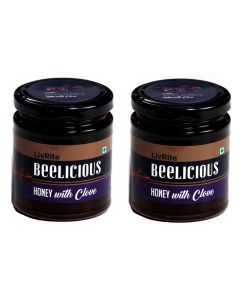 Beelicious Honey with Clove - 250 grams (Pack of 2)