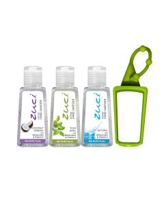 Zuci Coconut,Tulsi & Natural Hand Sanitizer Pack of 3 with Free Bag Tag - 30ml*3=90ml