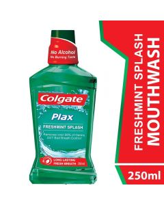 Colgate Mouthwash Plax Fresh Mint Alcohol Free 250ml