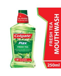 Colgate Mouthwash Plax Fresh Tea Alcohol Free 250ml