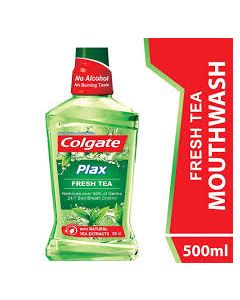 Colgate Mouthwash Plax Fresh Tea Alcohol Free 500ml