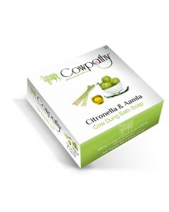 Cowpathy Citronella - Amla Cow Dung Bath Soap - Pack of 5