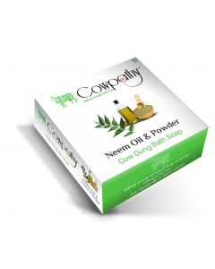 Cowpathy Neem Oil & Powder Cow Dung Bath Soap - Pack of 5