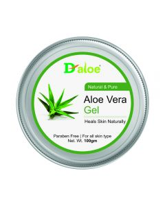 D-aloe Pure & Natural Aloe Vera Skin Gel 100gm