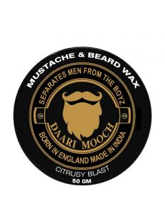 DAARIMOOCH MUSTACHE & BEARD WAX (CITRUSY BLAST)