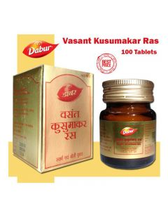 Dabur Vasant Kusumakar Ras (with Gold And Pearl) 100 Tabs