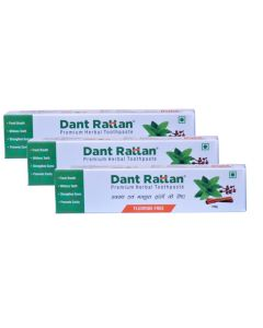 Dant Rattan Herbal Premium Toothpaste 100gm (Pack of 3)