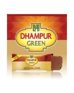 Dhampur Green Jaggery (Gur) 220 gm  ( Pack of 10)