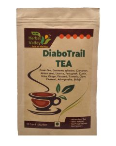 Indian Herbal Valley DiaboTrail 100 gms Herbal Green Tea for Healthy Sugar Management