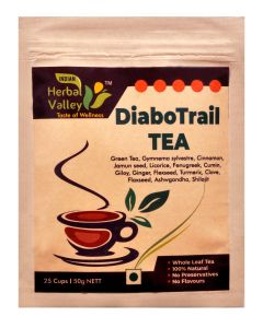 Indian Herbal Valley DiaboTrail 50 gms Herbal Green Tea for Healthy Sugar Management