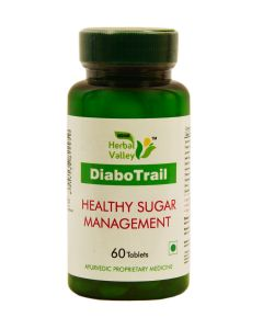 Indian Herbal Valley DiaboTrail 60 Tablets (550 mg) - Diabetes Supplement - A Naturally Sourced Dietary Ayurvedic Formula - Controls Blood Sugar / Glucose