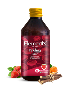 Elements Wellness Fealing Iron Syrup pack of 2 pc