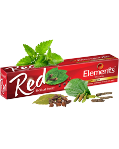 Elements Wellness Red Herbal Toothpaste 150GM Pack of 3Pc