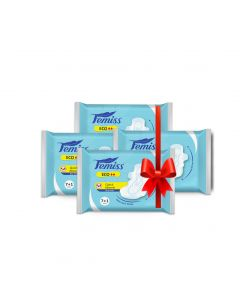 Femiss Dry Feel Over Night Sanitary Pad - ECO Extra Large,Pack Of 4 (Each -8 Pads)