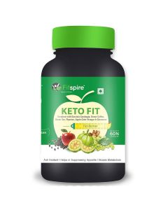 Fitspire Keto Fit Capsules | Extreme Weight Loss Fat Burner Supplement With (Green Tea + Garcinia Cambogia + Green Coffee + Piperine + Apple Cider Vinegar + Cinnamon) | 60 Capsules
