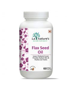 La Nature's Flaxseed Oil 1000mg | Omega 3-6-9 Supplement for Men & Women - 60 SoftGel Capsules