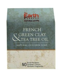 The Earth Reserve French Green Clay & Tea Tree Oil Natural Glycerin Soap - 100 gm