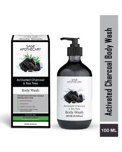 Sage Apothecary Activated Charcoal Body Wash - 200ml