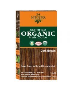 24 HERBS Certified Organic Hair Color - Dark Brown Hair Color