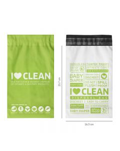 Sanitary and Diapers Disposal Bag by Sirona 45 Bags