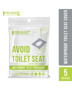PeeBuddy - Waterproof Toilet Seat Cover - 5 Toilet Sheets