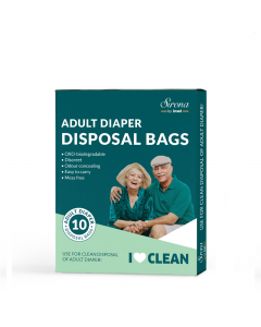 Sirona Premium Adult Diaper Disposal Bags - 10 Bags