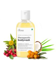 Sirona Natural Anti Fungal Therapeutic Body Wash With 5 Magical Herbs - Help Reduce Body Odor, Itching & Promotes Healthy Feet, Skin & Nails - 200 ml