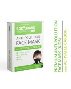BodyGuard Reusable Anti Pollution Face Mask with Activated Carbon, N99 + PM2.5 for Kids