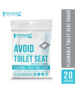 PeeBuddy Flushable Toilet Seat Cover to Avoid Direct Contact with Unhygienic Toilet Seats - 20 Seat Covers