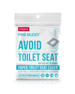 PeeBuddy Flushable Toilet Seat Cover - 20 Toilet Sheets , to Avoid Direct Contact with Unhygienic Toilet Seats