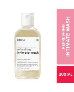 Sirona Natural pH balanced Intimate Wash - 200ml, with 5 Magical Herbs & No Chemical Actives