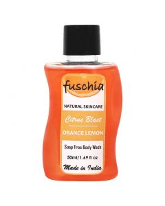 Fuschia Citrus Blast Orange Lemon Soap Free Body Wash 50ml