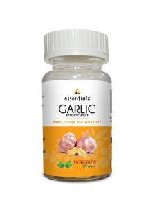 20Microns Herbal Garlic Extract 500 mg Supplement for Skin Aging & Wrinkles - 60 Capsules