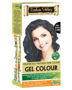 Indus Valley Organically Natural Gel Dark Brown 3.00 Permanent Hair Color