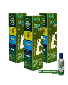 Liwo GenX Champ - 500ml  (Pack of 3) With 1 Liwo Health Sanitizer 100ml Free