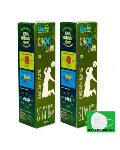 Liwo GenX Champ - 500ml (Pack of 2) With 1 KN95 Mask Free