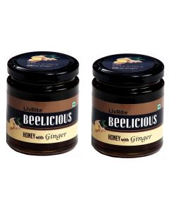 Beelicious Honey with Ginger - 250 grams (Pack of 2)