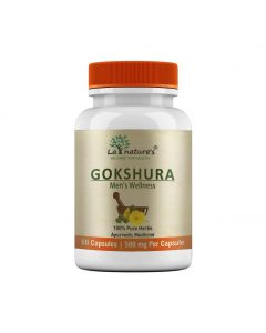 La Nature's Gokshura 500 mg |Men Wellness|Brain Booster|Muscle Builder|60 Veg Capsules