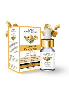 Sage Apothecary Argan Oil Face Serum with Gold Leaves - 15ml