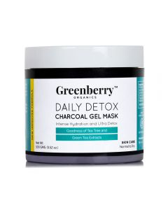Greenberry Organics Daily Detox Charcoal Gel Mask 100g