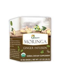 Grenera Moringa Green Tea 18 Tea bags box