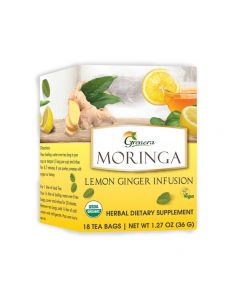 Grenera Moringa Lemon Ginger Tea 18 Tea bags box