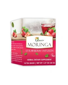 Grenera Moringa Strawberry Tea 18 Tea bags box