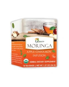 GreneraMoringa Apple Cinnamon Tea 18 Tea bags box