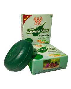 Gujarat Narmada Neem Glycerin Bar with Aloe Vera (Pack of 6)