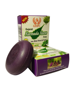 Gujarat Narmada Neem Soap with Aloe Vera & Tulsi (Pack of 6)