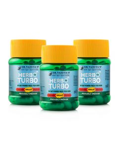 Dr. Vaidya's Herbo 24 Turbo 30 Capsules (Pack of 3)