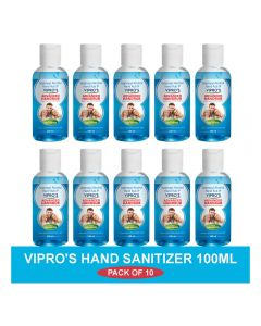 Vipro's Hand Rub (Sanitizer) Advanced 100 ml (Pack of 10)