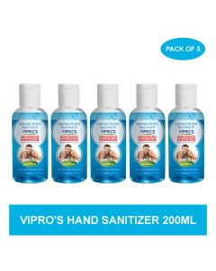 Vipro's Hand Rub (Sanitizer) Advanced 200 ml (Pack of 5)